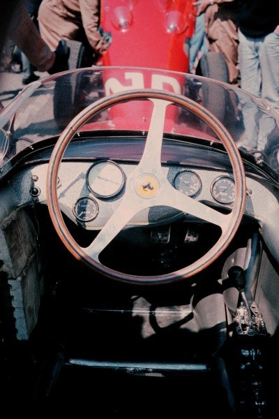 Cockpit of Ritchie Ginther's(USA) Ferrari 156 Dutch GP, Zandvoort, 22 May 1961