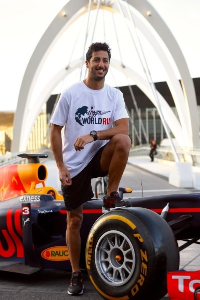 Daniel Ricciardo (AUS) Red Bull Racing at a Wings For Life World Run Press Call at Formula One World Championship, Rd1, Australian Grand Prix, Preparations, Albert Park, Melbourne, Australia, Wednesday 16 March 2016.