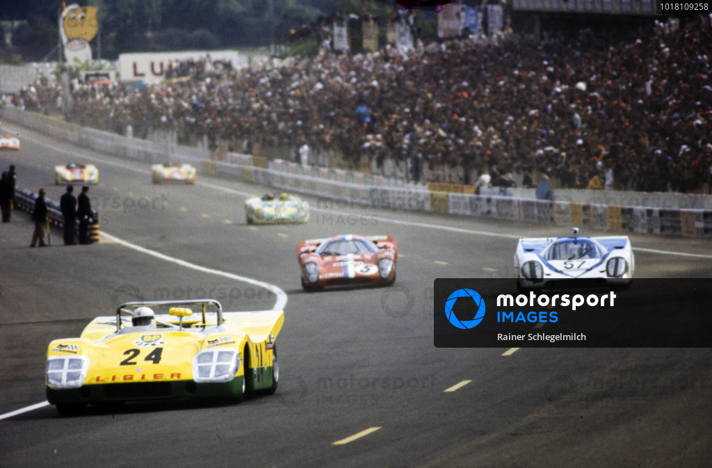 Guy Ligier / Patrick Depailler, Automobiles Ligier, Ligier JS 3 - Ford Cosworth DFV, LEADS Dominique Martin / Gèrard Pillon, Zitro Racing Team/Dominique Martin, Porsche 917 K, and Teddy Pilette / Gustave Gosselin, Racing Team VDS, Lola T70 Mk III B - Chevrolet/Morand.