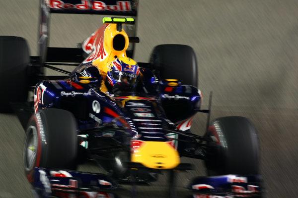 Marina Bay Circuit, Singapore.24th September 2011.Mark Webber, Red Bull Racing RB7 Renault. Action. World Copyright: Andy Hone/LAT Photographicref: Digital Image CSP28474