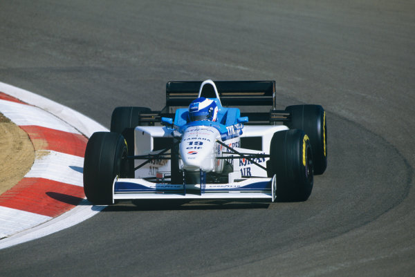Nurburgring, Germany. 26th - 28th April 1996.Mika Salo (Tyrrell 024-Yamaha V10), Disqualified, car underweight, action. World Copyright: LAT Photographic.Ref:  96EUR