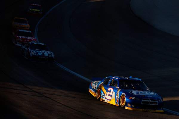 2-4 November, 2012, Fort Worth, Texas USA Brad Keselowski leads Jimmie Johnson.(c)2012, Lesley Ann Miller LAT Photo USA