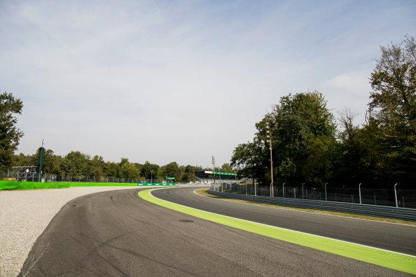 2017 FIA Formula 2 Round 9. Autodromo Nazionale di Monza, Monza, Italy. Thursday 31 August 2017. A view of Parabolica. Photo: Zak Mauger/FIA Formula 2. ref: Digital Image _56I4932