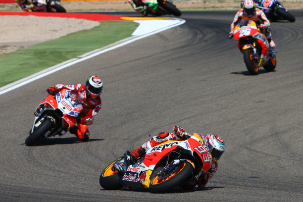 2017 MotoGP Championship - Round 14 Aragon, Spain. Sunday 24 September 2017 Marc Marquez, Repsol Honda Team World Copyright: Gold and Goose / LAT Images ref: Digital Image 14165