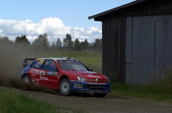 Carlos Sainz (ESP), Citroen Xsara WRC, finished 4th place overall on 2003 Rally Finland.FIA World Rally Championship, Rd9, Neste Rally Finland, Jyvaskyla, Finland. Day 2, 9 August 2003.DIGITAL IMAGE