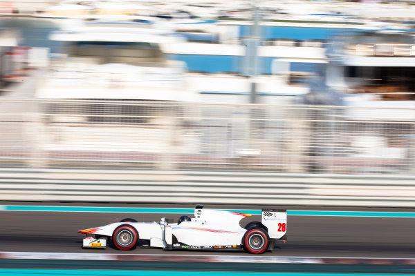 2014 GP2 Series Test 1  Yas Marina Circuit, Abu Dhabi, UAE.  Wednesday 12 March 2014. Arthur Pic (FRA) Campos Racing  Photo: Malcolm Griffiths/GP2 Series Media Service ref: Digital Image F80P5114