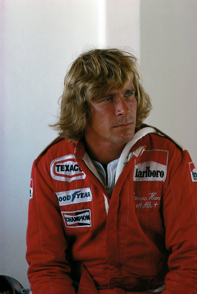 James Hunt (McLaren-Ford Cosworth).Please Note: This image is available as a 30mb+ CMYK Tiff scan upon request World Copyright - LAT Photographic