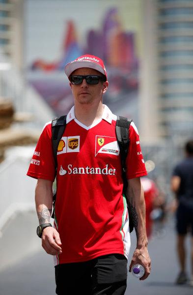 Baku City Circuit, Baku, Azerbaijan. Saturday 18 June 2016. Kimi Raikkonen, Ferrari. World Copyright: Glenn Dunbar/LAT Photographic ref: Digital Image _W2Q8106