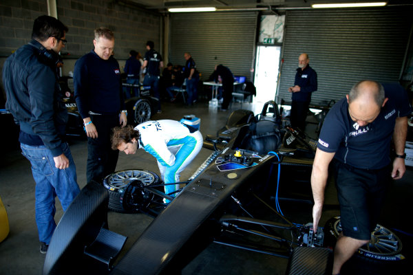 FIA Formula E Test Day, Donington Park, UK.  9th - 10th July 2014.  Jarno Trulli, Trulli GP. Photo: Glenn Dunbar/FIA Formula E ref: Digital Image _W2Q9474