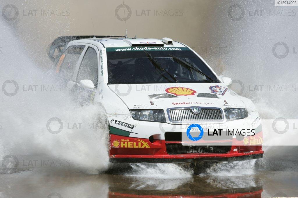2005 FIA World Rally Champs. Round Sixteen, Rally Australia.10th - 13th November 2004.Colin McRae, Skoda, action.World Copyright: McKlein/LAT