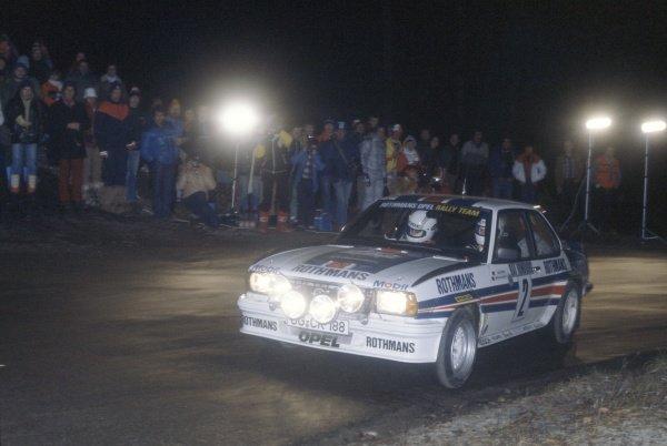 1982 World Rally Championship.Monte Carlo Rally, Monaco. 16-22 January 1982.Walter Rohrl/Christian Geistdorfer (Opel Ascona 400), 1st position.World Copyright: LAT PhotographicRef: 35mm transparency 82RALLY01