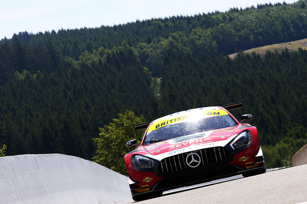 2017 British GT Championship, Spa-Francorchamps, Belgium. 7th - 8th July 2017. Lee Mowle / Ryan Ratcliffe AmDTuning.com Mercedes AMG GT3. World Copyright: JEP/LAT Images.