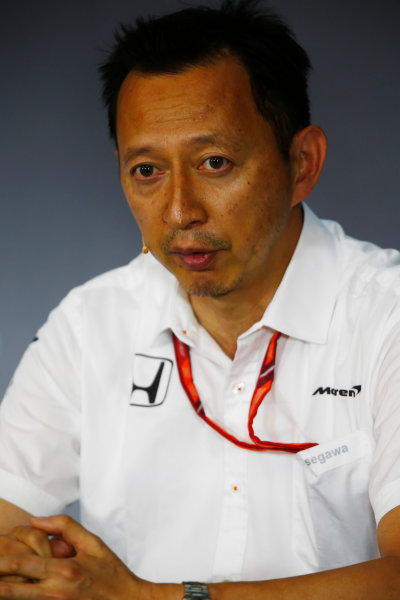 Red Bull Ring, Spielberg, Austria. Friday 07 July 2017. Yusuke Hasegawa, Senior Managing Officer, Honda, in the Friday press conference. World Copyright: Andy Hone/LAT Images ref: Digital Image _ONY9931