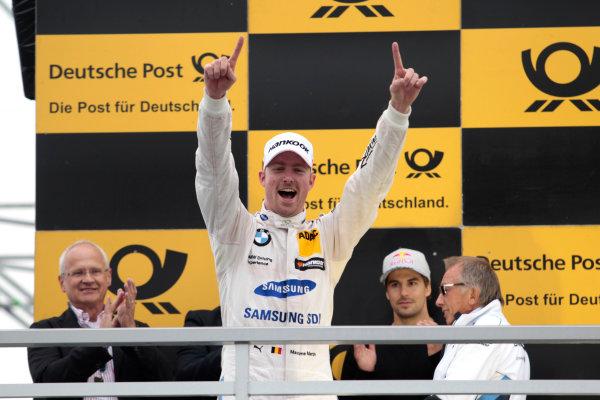2017 DTM Round 4 Norisring, Nuremburg, Germany Sunday 2 July 2017. Podium: Race winner Maxime Martin, BMW Team RBM, BMW M4 DTM World Copyright: Alexander Trienitz/LAT Images ref: Digital Image 2017-DTM-R3-NOR-AT1-3729