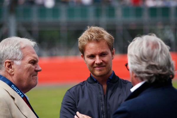 Williams 40 Event Silverstone, Northants, UK Friday 2 June 2017. Patrick Head, Nico Rosberg and Keke Rosberg. World Copyright: Joe Portlock/LAT Images ref: Digital Image _L5R0735