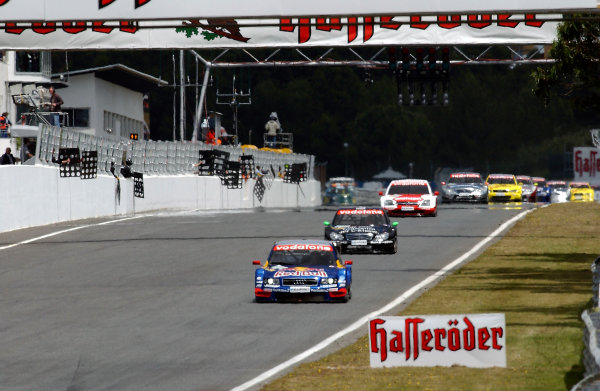 2004 DTM ChampionshipEstoril, Portugal. 1st - 2nd May 2004.Mattias Ekstrom (Abt Sportsline Audi A4) leads Gary Paffet (HWA Mercedes C-Class) action.World Copyright: Andre Irlmeir/LAT Photographicref: Digital Image Only