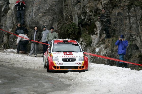 2005 FIA World Rally Champs. Round one, Rally Monte Carlo 20th-23rd January 2005. Kris Meeke, Citreon, action. World Copyright: McKlein/LAT