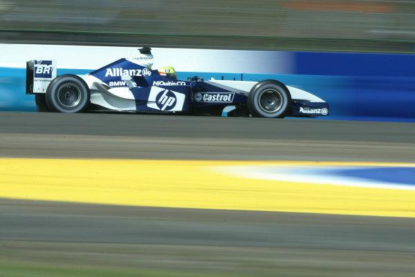 2003 British Grand Prix - Saturday Final Qualifying,Silverstone, Britain. 19th July 2003 Ralf Schumacher, BMW Williams FW25, action.World Copyright LAT Photographic.Digital Image Only.