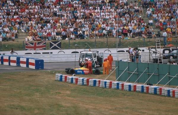 Emanuele Pirro (ITA) Benetton B189, DNF. German Grand Prix, Hockenheim, 30 July 1989