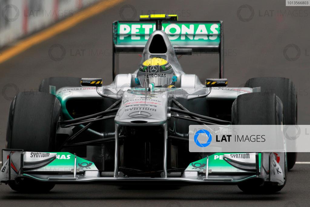 Albert Park, Melbourne, Australia25th March 2011.Nico Rosberg, Mercedes GP W02. Action. World Copyright: Charles Coates/LAT Photographicref: Digital Image _X5J8543