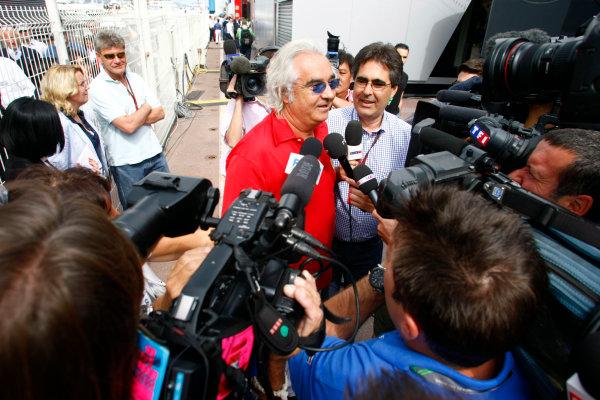 Monte Carlo, Monaco15th May 2010Flavio Briatore gives an interview. Portrait. Media. World Copyright: Charles Coates/LAT Photographicref: Digital Image _26Y9003