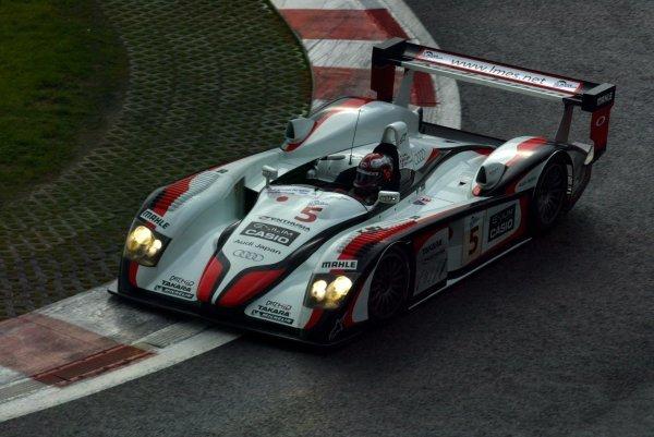 Rinaldo Capello (ITA) Audi Sport Japan Team Goh Audi R8.Le Mans Endurance Series Rd4, Spa 1000km, Spa-Francorchamps, Belgium. 11/12/13 September 2004.Digital Image