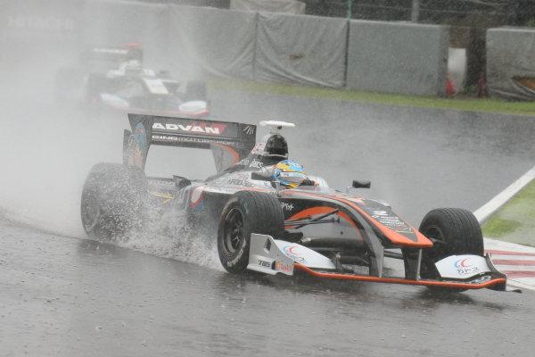 2017 Japanese Super Formula. Suzuka, Japan. 21st - 22nd October 2017. Rd 7. Cancelled race due to Typhoon. 2017 Driver?s Champion Hiroaki Ishiura ( #2 P.MU/CERUMO ? INGING SF14 ) action  World Copyright: Yasushi Ishihara / LAT Images. Ref: 2017_SF_Rd7_004