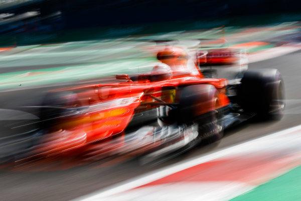 Autodromo Hermanos Rodriguez, Mexico City, Mexico. Saturday 28 October 2017. Sebastian Vettel, Ferrari SF70H. World Copyright: Steven Tee/LAT Images  ref: Digital Image _R3I5031