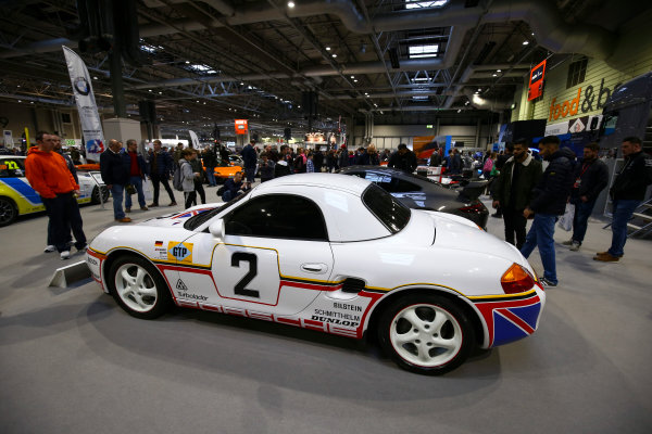 Autosport International Exhibition. National Exhibition Centre, Birmingham, UK. Sunday 14th January 2018. A Porsche on display.World Copyright: Mike Hoyer/JEP/LAT Images Ref: AQ2Y0019