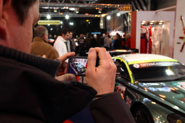 NEC, Birmingham. 15th January 2012.A member of the public takes a picture of the Sabelt display.World Copyright:Daniel Kalisz/LAT Photographicref: Digital Image IMG_2525