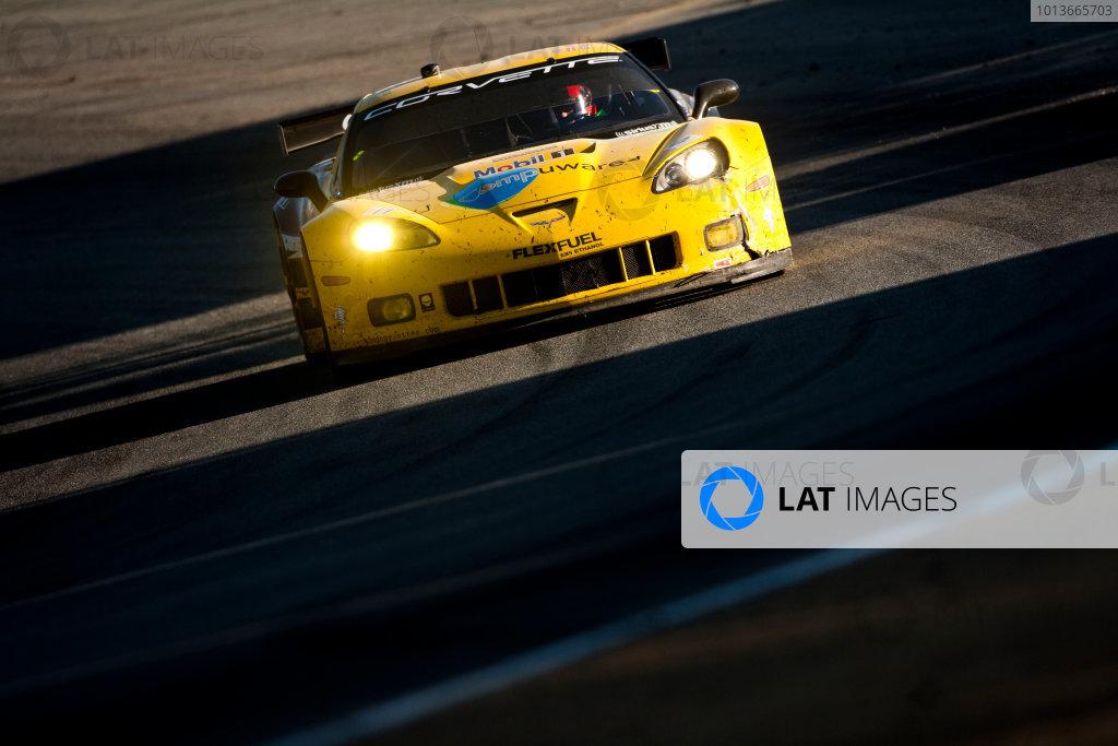American Le Mans Series. Laguna Seca, Monterey, California. 15th - 17th September 2011. Oliver Gavin / Jan Magnussen, Corvette Racing, Chevrolet Corvette C6 ZR1. Action. Photo: Drew Gibson/LAT Photographic. ref: Digital Image _Y2Z6783