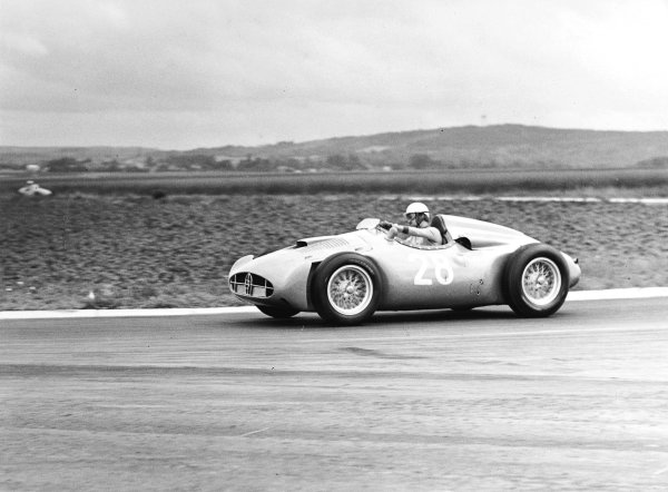 Reims, France. 29/6-1/7 1956.Maurice Trintignant (Bugatti T251). Ref-Autocar C47517.World Copyright - LAT Photographic