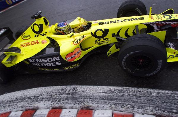 2001 Belgian Grand PrixSpa Francorchamps, Belgium. 31st August 2001.Jean Alesi, Jordan Honda EJ11, action.World Copyright: Steve Etherington/LAT Photographicref: 17 5mb Digital Image Only