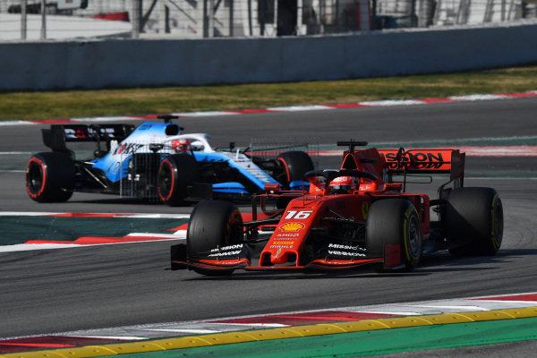 Charles Leclerc, Ferrari SF90 and Robert Kubica, Williams FW42