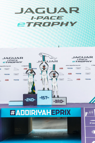 The PRO class podium: Winner Simon Evans (NZL), Team Asia New Zealand with 2nd position Sérgio Jimenez (BRA), Jaguar Brazil Racing and 3rd position Bryan Sellers (USA), Rahal Letterman Lanigan Racing