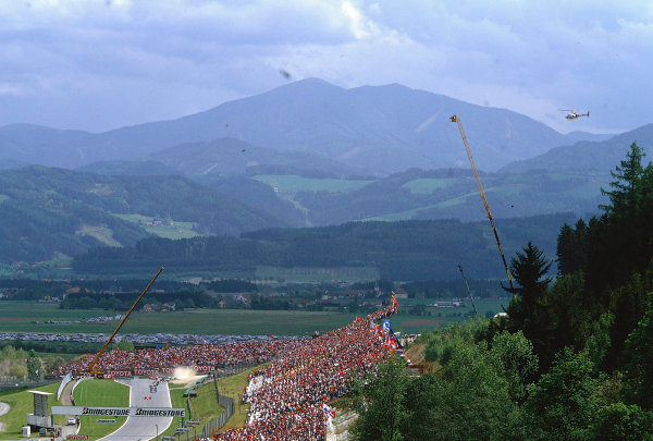 2002 Austrian Grand Prix.A1-Ring, Zeltweg, Austria.10-12 May 2002.A picturesque view of the A1-Ring circuit situated up in the stirion mountains of Austria.Ref-02 AUT 37.World Copyright - LAT Photographic