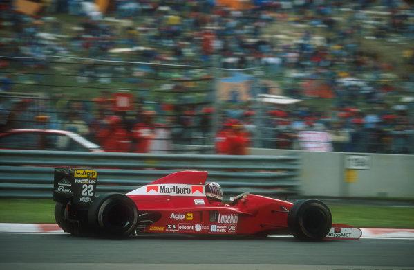 1991 San Marino Grand Prix.Imola, Italy.26-28 April 1991.J J. Lehto (Dallara 191 Judd) 3rd position.Ref-91 SM 18.World Copyright - LAT Photographic
