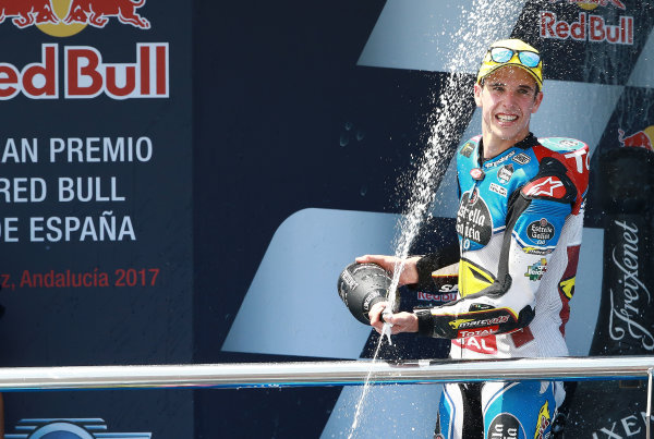 2017 Moto2 Championship - Round 4 Jerez, Spain Sunday 7 May 2017 Podium: race winner Alex Marquez, Marc VDS World Copyright: Gold & Goose Photography/LAT Images ref: Digital Image 668737