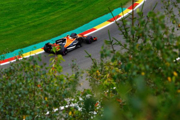Spa Francorchamps, Belgium.  Saturday 26 August 2017. Stoffel Vandoorne, McLaren MCL32 Honda.  World Copyright: Steven Tee/LAT Images  ref: Digital Image _O3I1728