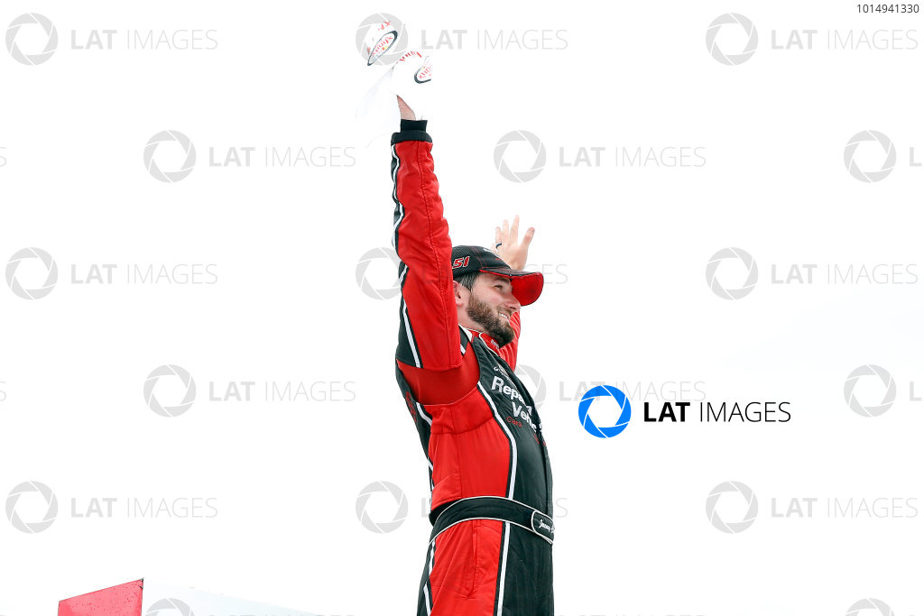 NASCAR XFINITY Series Johnsonville 180 Road America, Elkhart Lake, WI USA Sunday 27 August 2017 Jeremy Clements, RepairableVehicles.com Chevrolet Camaro celebrates in victory lane  World Copyright: Russell LaBounty LAT Images