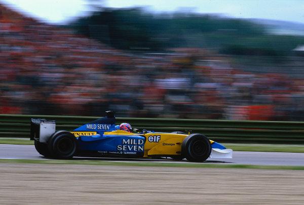 2002 San Marino Grand Prix.Imola, Italy.12-14 April 2002.Jenson Button (Renault R202) 5th position.Ref-02 SM 06.World Copyright - LAT Photographic