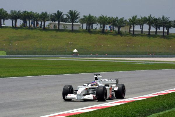 2001 Malaysian Grand Prix.Sepang, Kuala Lumpur, Malaysia. 16-18 March 2001.Jacques Villeneuve (B.A R. 003 Honda).World Copyright - LAT Photographicref: 8 9MB DIGITAL IMAGE