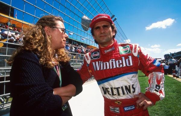 Alex Zanardi (ITA) began his return to F1 with Williams disappointingly, crashing out early in the race. Australian Grand Prix, Melbourne, 7 March 1999.