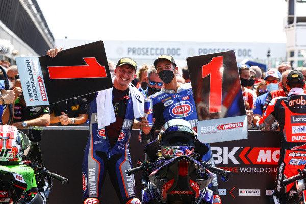 Garrett Gerloff, GRT Yamaha WorldSBK Team, Toprak Razgatlioglu, PATA Yamaha WorldSBK Team.