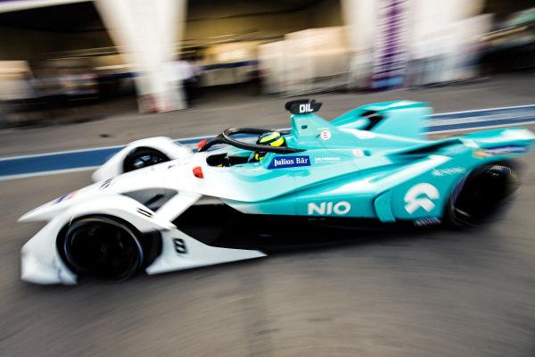 Tom Dillmann (FRA), NIO Formula E Team, NIO Sport 004, drives down the pit lane