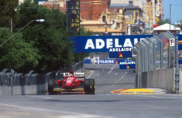 1994 Australian Grand Prix.Adelaide, Australia.11-13 November 1994.Gerhard Berger (Ferrari 412T1B) 2nd position.Ref-94 AUS 12.World Copyright - LAT Photographic