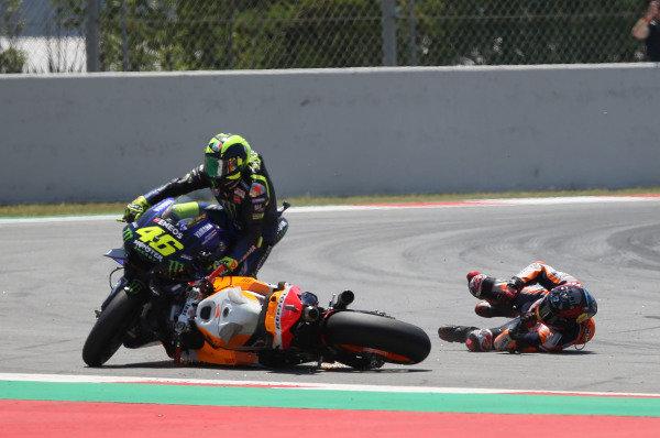 Jorge Lorenzo, Repsol Honda Team crash.