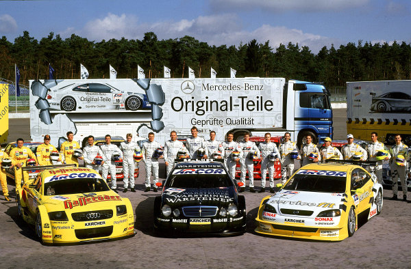 2001 DTM TestingHockenheim, Germany. 5th April 2001.2001 Runners and riders - group portrait.World Copyright: Peter Spinney/LAT Photographic.