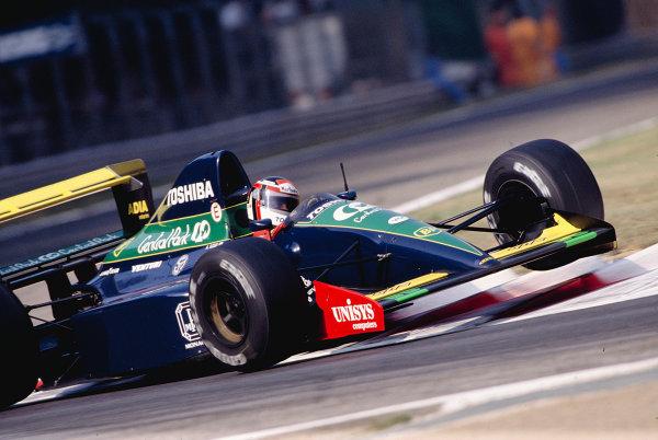 1991 Italian Grand Prix.Monza, Italy.6-8 September 1991.Aguri Suzuki (Larrousse/Lola L91 Ford).Ref-91 ITA 27.World Copyright - LAT Photographic