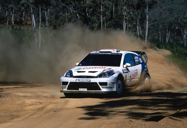 2003 World Rally ChampionshipRally Australia. 3rd - 7th September 2003Markko Martin/Michael Park (Ford Focus RS WRC 03), action.World Copyright: McKlein/LAT Photographicref: 35mm Image A20